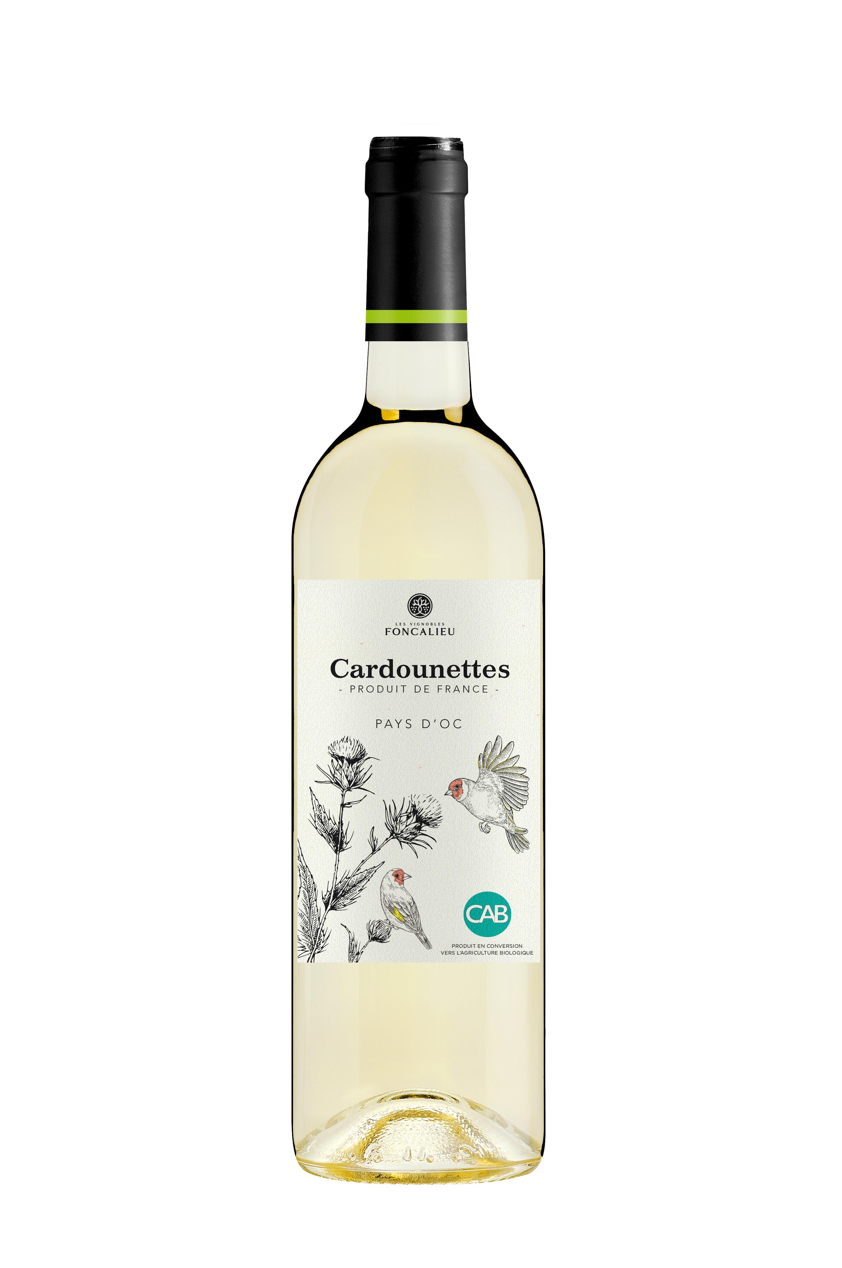 les cardounettes vin blanc bio