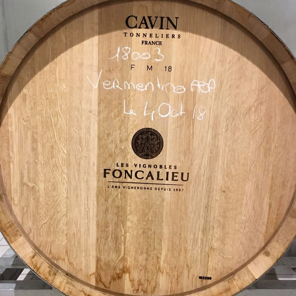 entonnage vins vermentino aop saint chinian